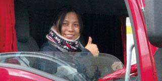 女性のドライバーが働きやすい環境です。